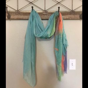 Accessories - Watercolor oblong scarf